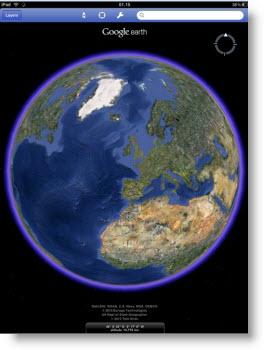 Nu findes Google Earth også som iPad-app