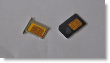 Vejledning i at tilpasse sim-kort til micro-sim-størrelse