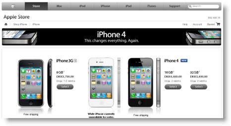 iphone 4 uden abonnement