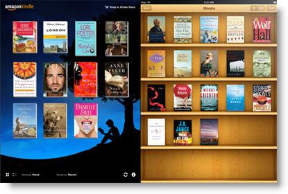 e-bøger fra Amazons Kindle-shop og fra Apples ibooks
