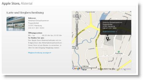 Beskrivelse af Apple Store Hamburg