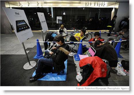 Der blev også i Japan ventet i kø for at komme til at købe iPad