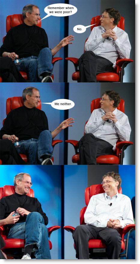 Hvad griner Steve Jobs og Bill Gates af?