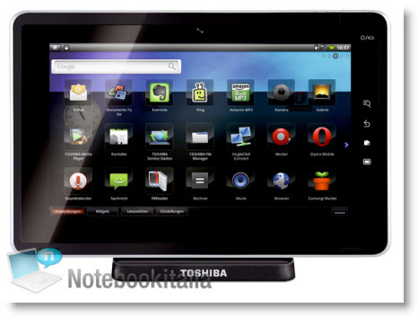 En mulig ny iPad-konkurrent, nemlig Toshiba Tablet Folio 100