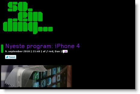 DR2-udsendelsen So ein Ding om iPhone 4 og iPad