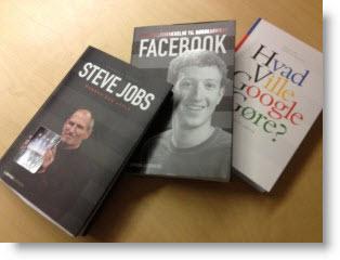 Hardisken gratis lydbøger: Steve Jobs, Hvad ville Google gøre og Facebook